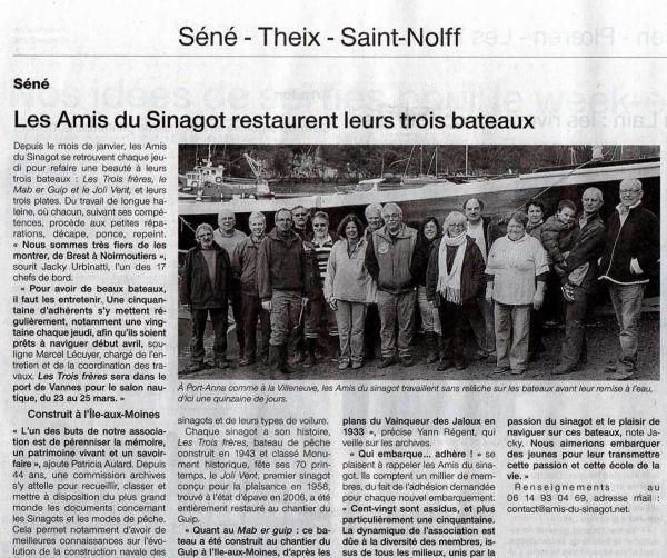 Nos travaux dans Ouest France